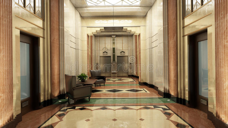 Λόμπι του Art Deco διανυσματική απεικόνιση