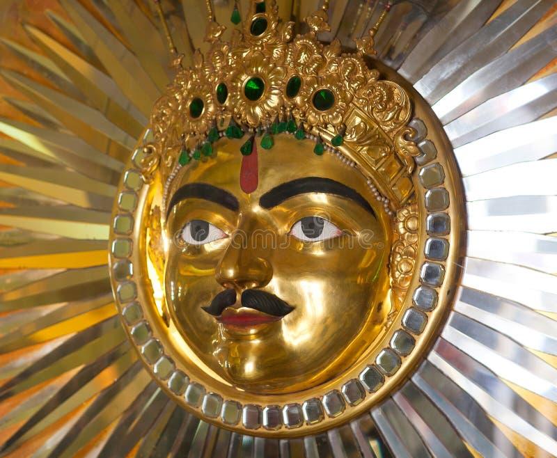 Λόρδος Surya, Ήλιος που λατρεύεται από τη δυναστεία των Mewars στο Παλάτι της Πόλης Udaipur, Ρατζαστάν, Ινδία στοκ φωτογραφία με δικαίωμα ελεύθερης χρήσης