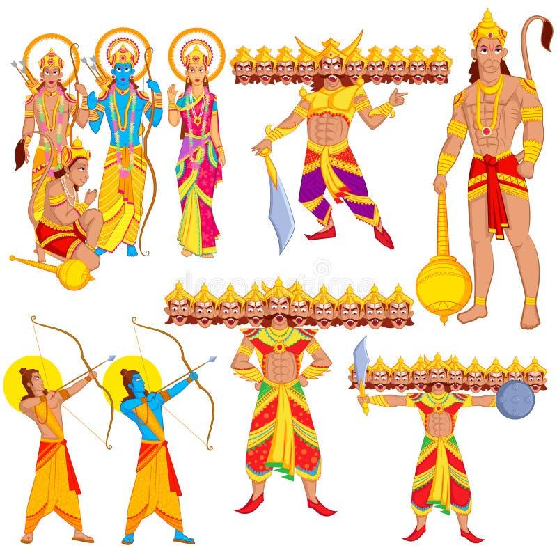 Λόρδος Rama, Laxmana, Sita με Hanuman ελεύθερη απεικόνιση δικαιώματος