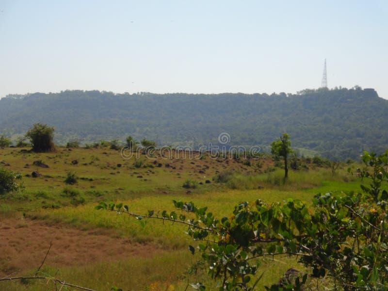 Λόφοι και σειρά βουνών, άποψη τοπίων πρασινάδων δέντρων στοκ φωτογραφία με δικαίωμα ελεύθερης χρήσης