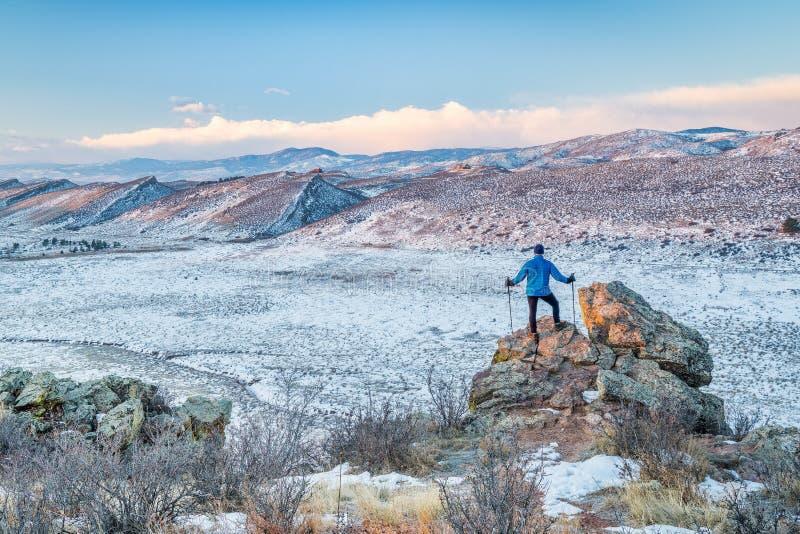 Λόφοι πεζοπορίας στο βόρειο Κολοράντο στοκ εικόνες