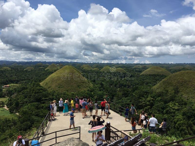 Λόφοι σοκολάτας, Bohol στοκ εικόνες με δικαίωμα ελεύθερης χρήσης