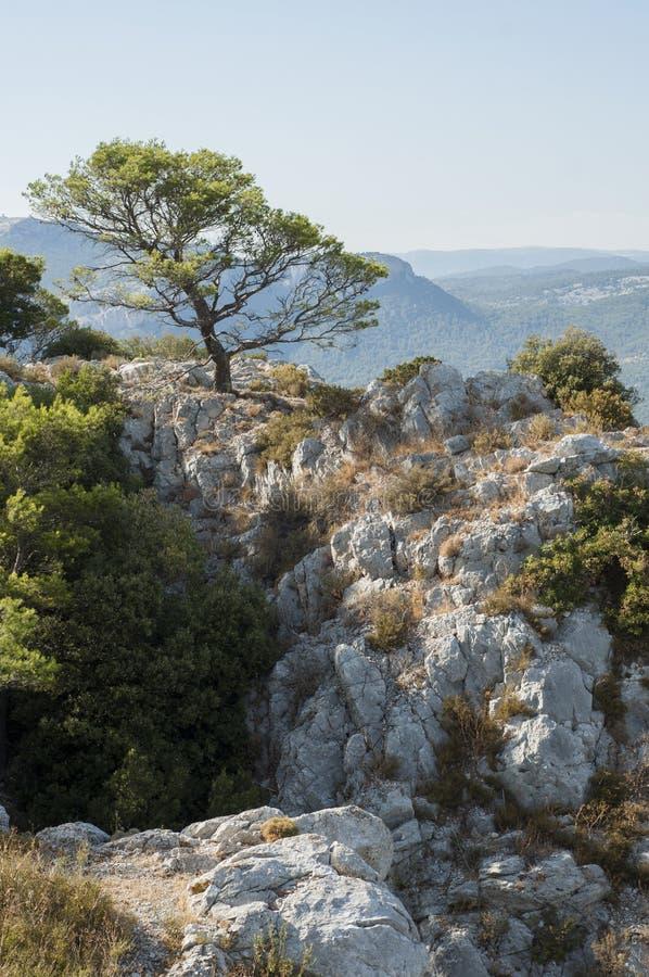Λόφοι στο γαλλικό Riviera στοκ εικόνες με δικαίωμα ελεύθερης χρήσης