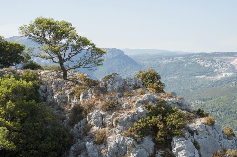 Λόφοι στο γαλλικό Riviera στοκ φωτογραφίες με δικαίωμα ελεύθερης χρήσης