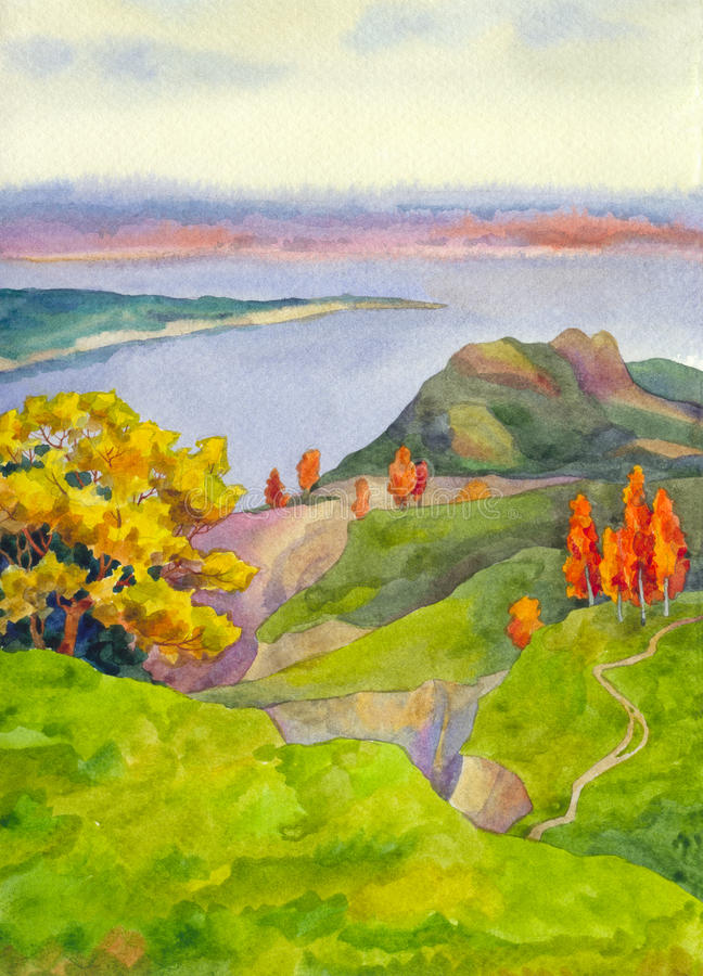 λόφοι φθινοπώρου ελεύθερη απεικόνιση δικαιώματος