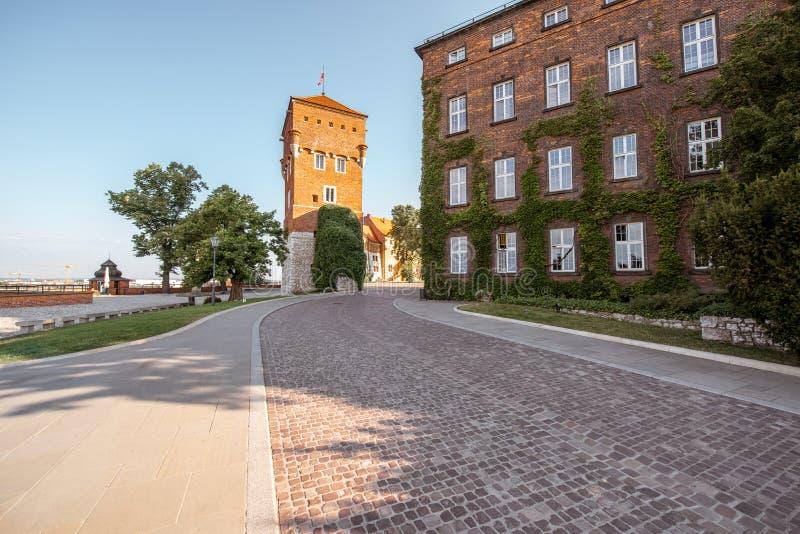 Λόφος κάστρων Wawel στην Κρακοβία στοκ εικόνα με δικαίωμα ελεύθερης χρήσης