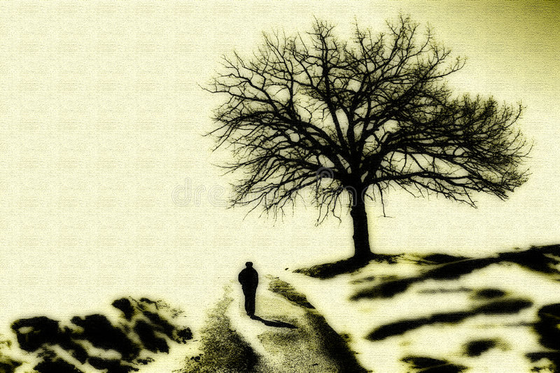 λόφος που περπατά επάνω στοκ φωτογραφία