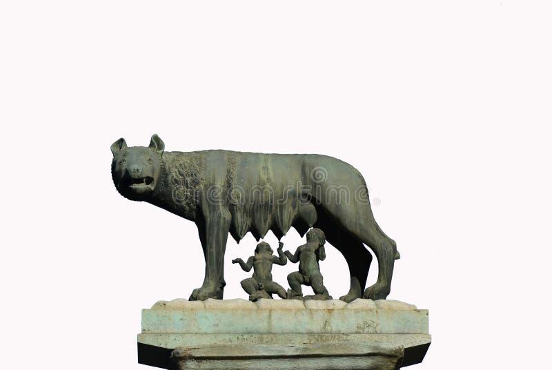 Λύκος Capitoline χωρίς υπόβαθρο στοκ φωτογραφίες