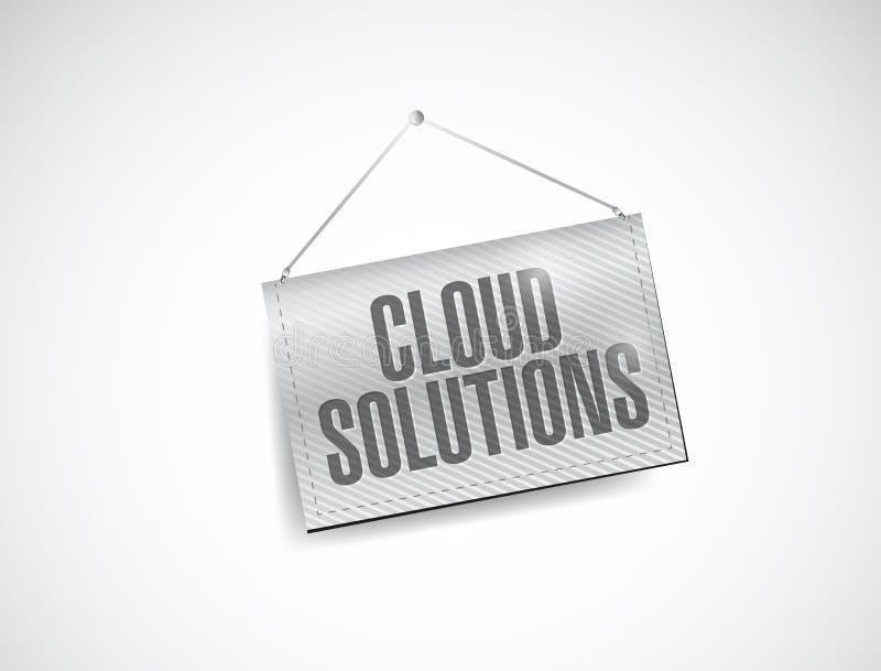 Λύσεις σύννεφων που κρεμούν την απεικόνιση εμβλημάτων ελεύθερη απεικόνιση δικαιώματος