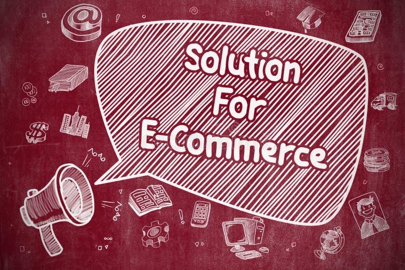 Λύση για το ηλεκτρονικό εμπόριο - επιχειρησιακή έννοια διανυσματική απεικόνιση