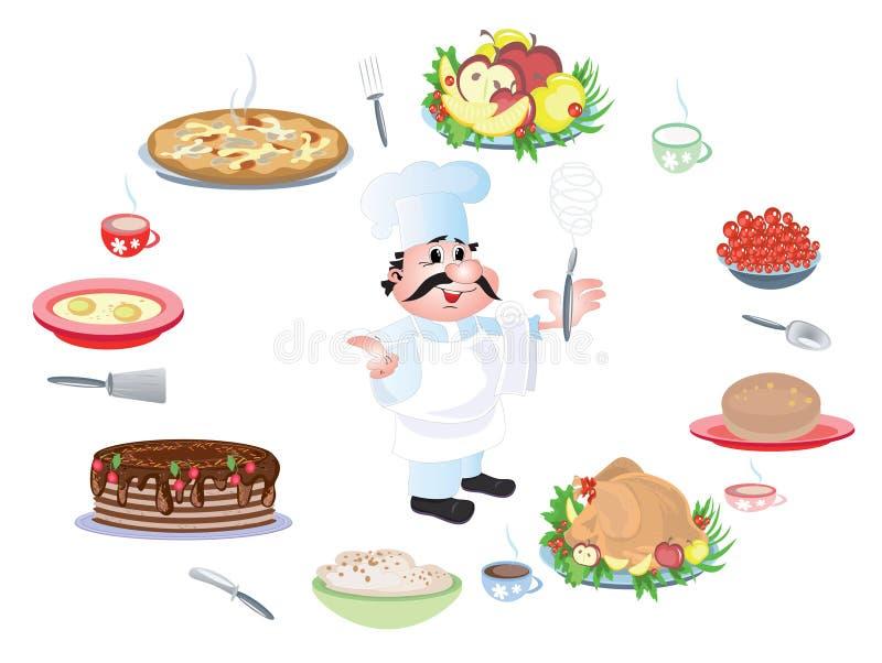 μάγειρας αρχιμαγείρων απεικόνιση αποθεμάτων