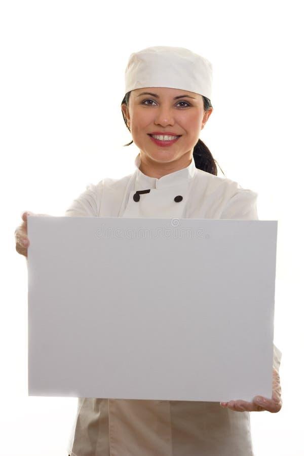 μάγειρας αρχιμαγείρων στοκ φωτογραφία