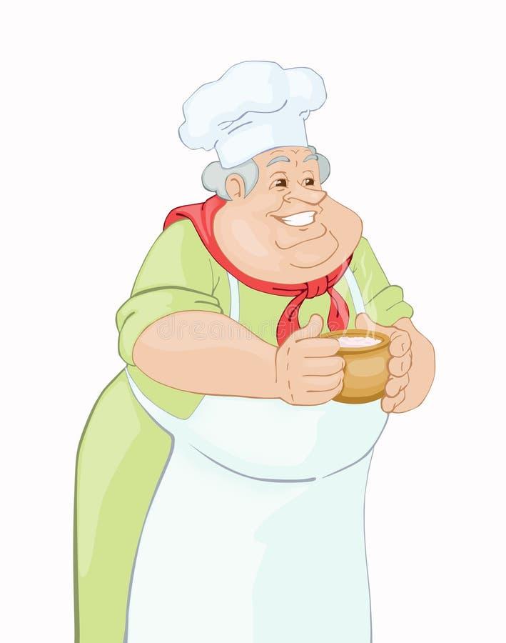 μάγειρας ευτυχής απεικόνιση αποθεμάτων