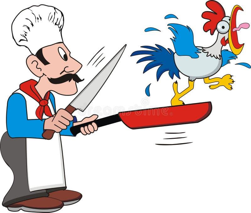 μάγειρας κοτόπουλου ελεύθερη απεικόνιση δικαιώματος
