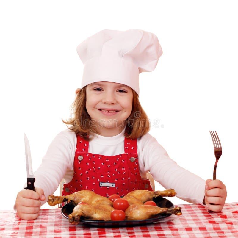Μάγειρας μικρών κοριτσιών στοκ φωτογραφία με δικαίωμα ελεύθερης χρήσης
