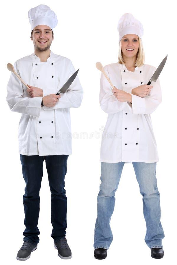 Μάγειρες εκπαιδευόμενων εκπαιδευόμενων μαθητευόμενων μαγείρων που στέκονται το πλήρες σώμα cookin στοκ φωτογραφία με δικαίωμα ελεύθερης χρήσης