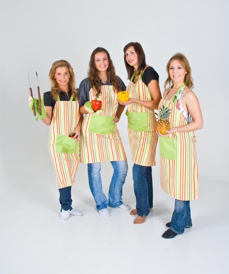 μάγειρες τέσσερα στοκ φωτογραφία με δικαίωμα ελεύθερης χρήσης