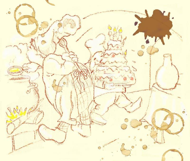 μάγειρες διανυσματική απεικόνιση