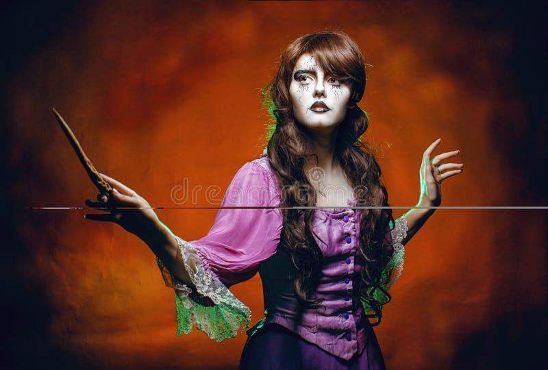 Μάγισσα και η μαγική ράβδος στοκ φωτογραφία με δικαίωμα ελεύθερης χρήσης