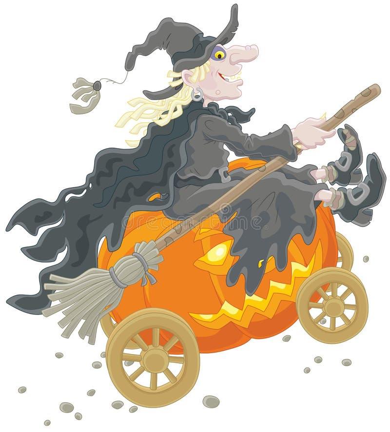 μάγισσα κολοκύθας απο&kappa διανυσματική απεικόνιση