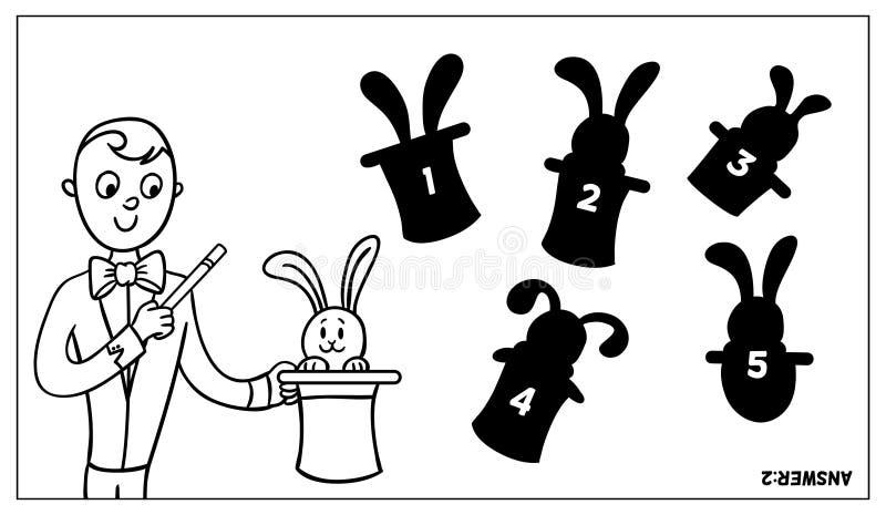 Μάγος και το κουνέλι απεικόνιση αποθεμάτων