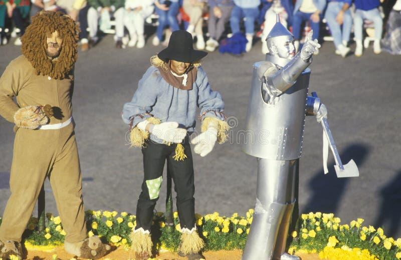 Μάγος Oz του επιπλέοντος σώματος στην παρέλαση Rose Bowl, Πασαντένα, Καλιφόρνια στοκ εικόνα