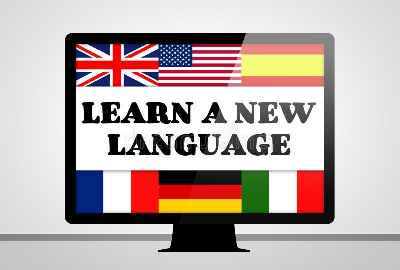 Μάθετε μια νέα γλώσσα απεικόνιση αποθεμάτων