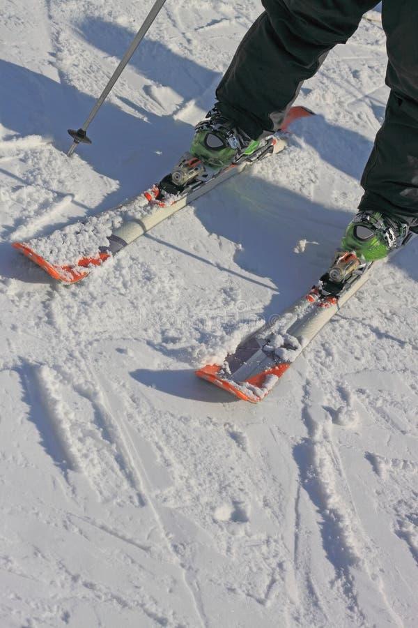 Μάθετε να κάνει σκι για να κάνει τη στροφή στοκ φωτογραφία με δικαίωμα ελεύθερης χρήσης