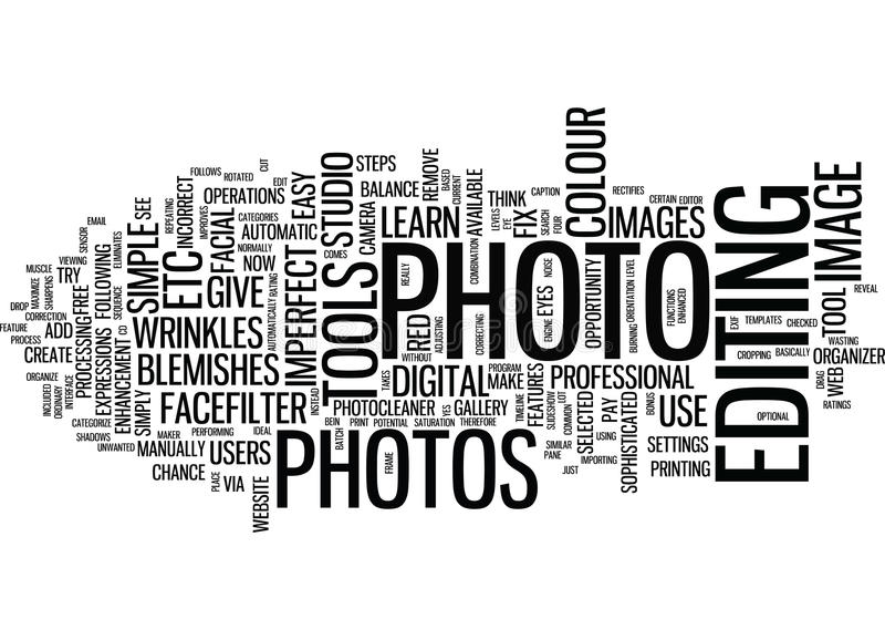 Μάθετε να καθορίζετε την ατελή έννοια σύννεφων του Word υποβάθρου κειμένων φωτογραφιών διανυσματική απεικόνιση