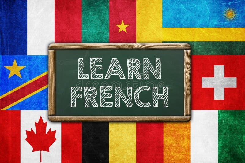 Μάθετε τα γαλλικά ελεύθερη απεικόνιση δικαιώματος