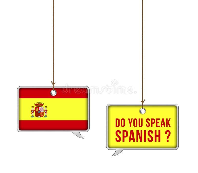 Μάθετε τα ισπανικά ελεύθερη απεικόνιση δικαιώματος
