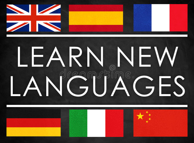 Μάθετε τις νέες γλώσσες διανυσματική απεικόνιση