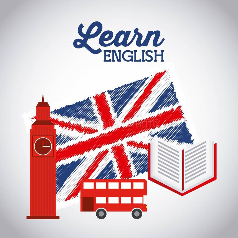 Μάθετε το αγγλικό σχέδιο απεικόνιση αποθεμάτων