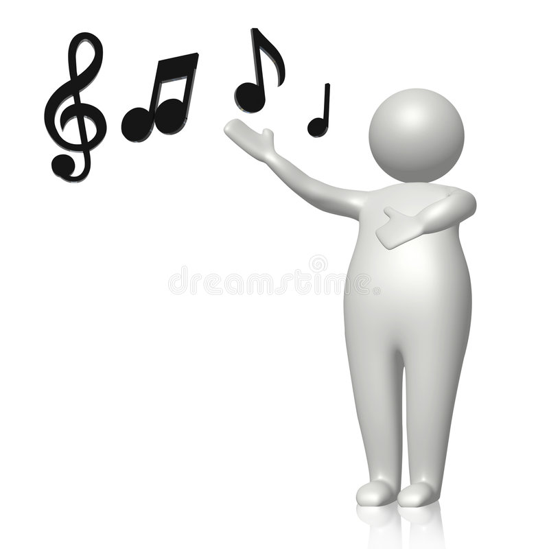 μάθετε τραγουδά ελεύθερη απεικόνιση δικαιώματος