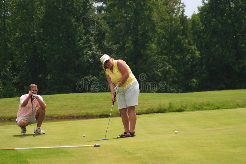 μάθημα γκολφ στοκ φωτογραφία