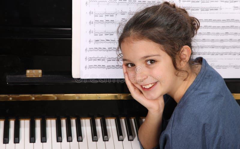 Μάθημα πιάνων στοκ εικόνες