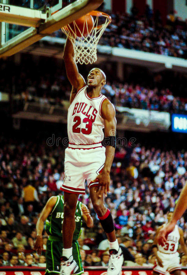 Μάικλ Τζόρνταν Chicago Bulls στοκ εικόνα με δικαίωμα ελεύθερης χρήσης