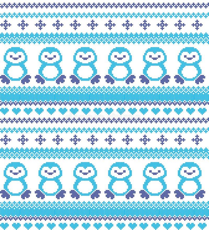 Μάλλινος χειμερινών εορταστικός πλεκτός Χριστούγεννα σχεδίων πλεκτός ελεύθερη απεικόνιση δικαιώματος
