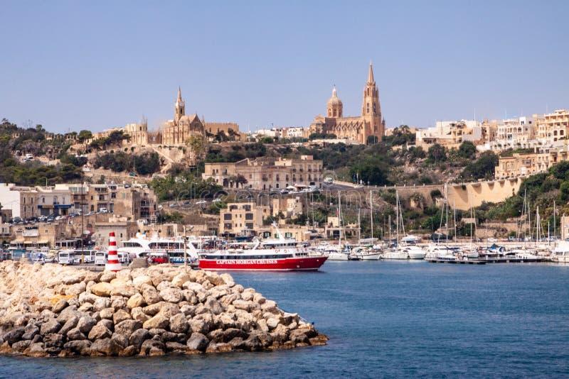 Μάλτα, λιμάνι σε Valletta, οι τρεις πόλεις στοκ φωτογραφία με δικαίωμα ελεύθερης χρήσης