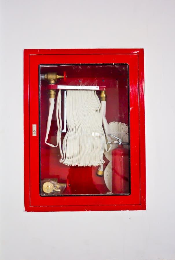 Μάνικα πυρκαγιάς στο κιβώτιο στοκ εικόνα με δικαίωμα ελεύθερης χρήσης