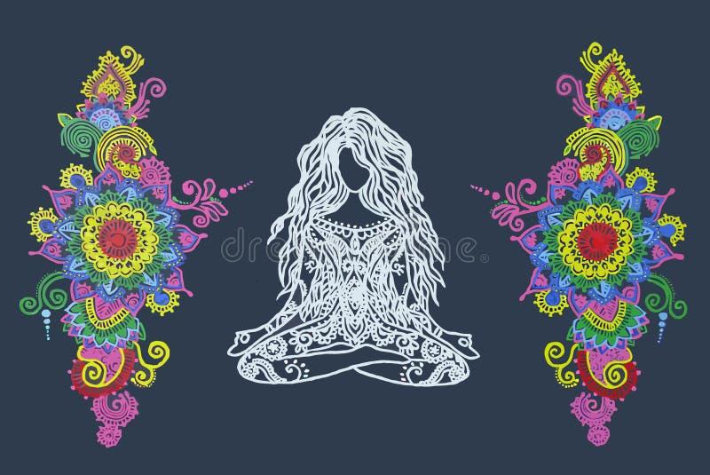 Μάντρα Mandala ελεύθερη απεικόνιση δικαιώματος