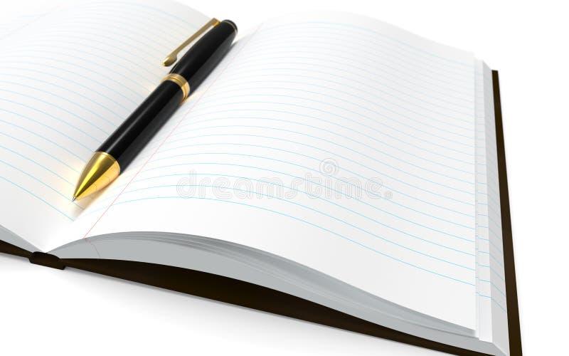 Μάνδρα και σημειωματάριο σε ένα άσπρο υπόβαθρο στοκ εικόνα με δικαίωμα ελεύθερης χρήσης