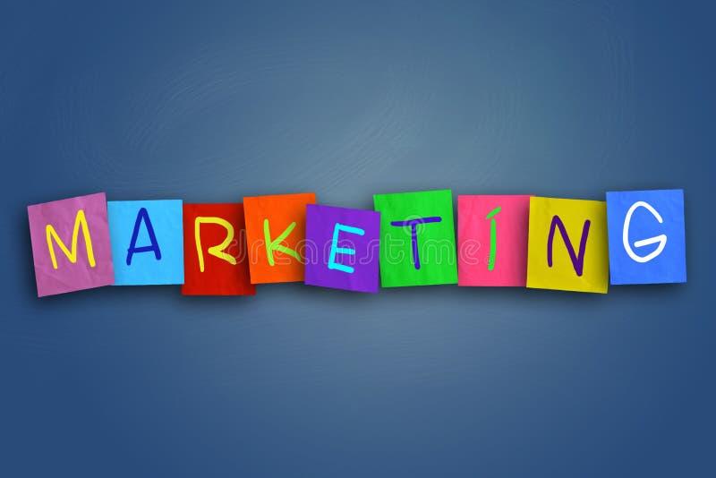 Μάρκετινγκ, έννοια αποσπασμάτων επιχειρησιακών κινητήρια λέξεων στοκ φωτογραφία με δικαίωμα ελεύθερης χρήσης