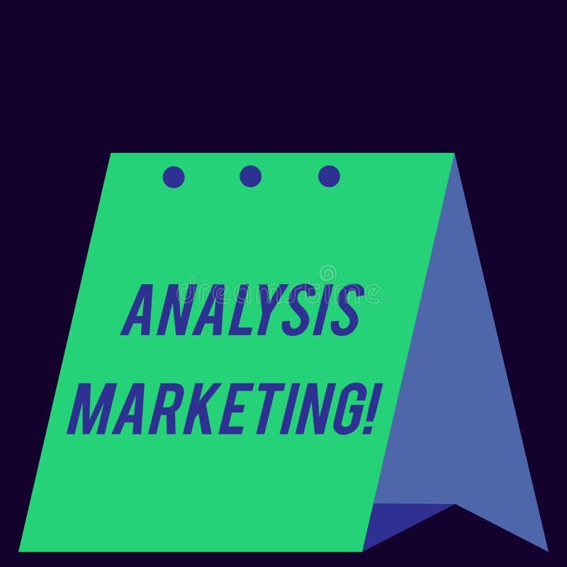 Μάρκετινγκ ανάλυσης κειμένων γραφής Έννοια που σημαίνει την ποσοτική και ποιοτική αξιολόγηση σύγχρονου ενός φρέσκου αγοράς διανυσματική απεικόνιση