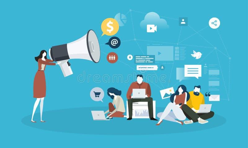 Μάρκετινγκ Διαδικτύου ελεύθερη απεικόνιση δικαιώματος