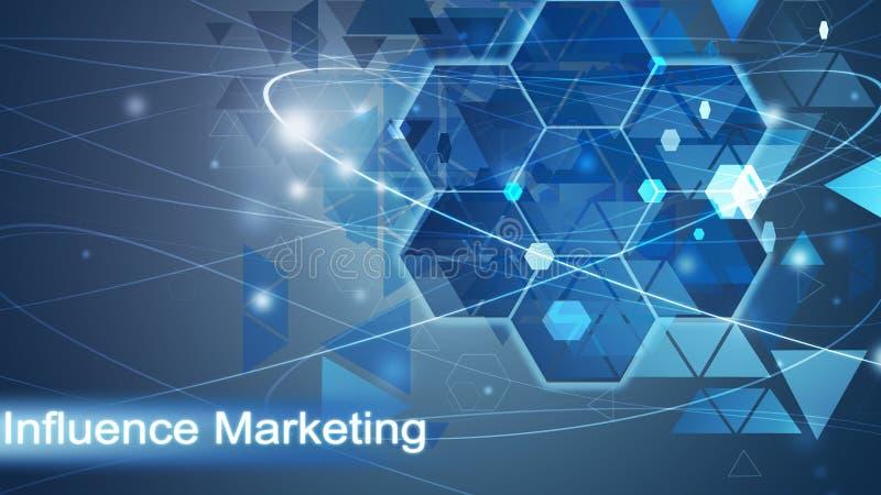 Μάρκετινγκ επιρροής, επιχειρησιακό υπόβαθρο στοκ εικόνα