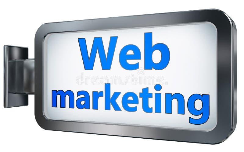 Μάρκετινγκ Ιστού στο υπόβαθρο πινάκων διαφημίσεων ελεύθερη απεικόνιση δικαιώματος