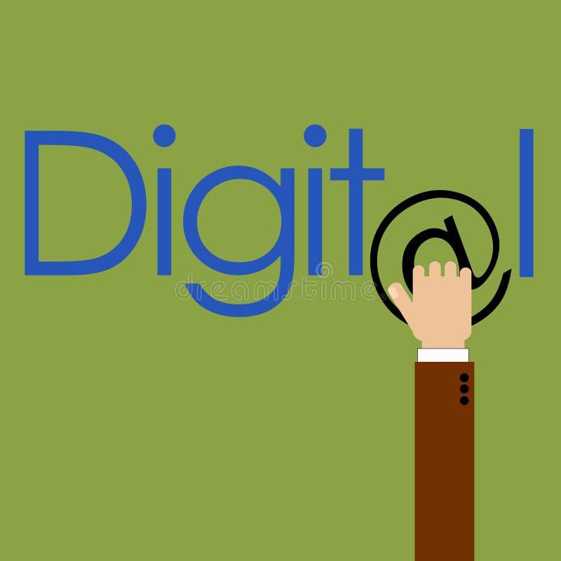 Μάρκετινγκ σε ψηφιακό στοκ φωτογραφία