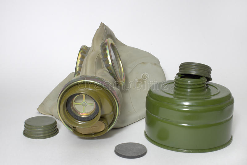 Μάσκα αερίου τύπων φίλτρων βιομηχανική στοκ φωτογραφία
