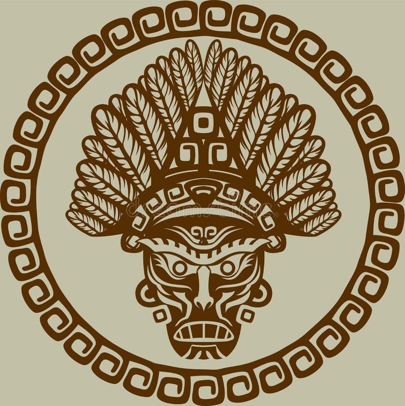 Μάσκα αμερικανών ιθαγενών διανυσματική απεικόνιση